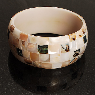 Lustrous Shell Mosaic Bangle (Pastel Shades)