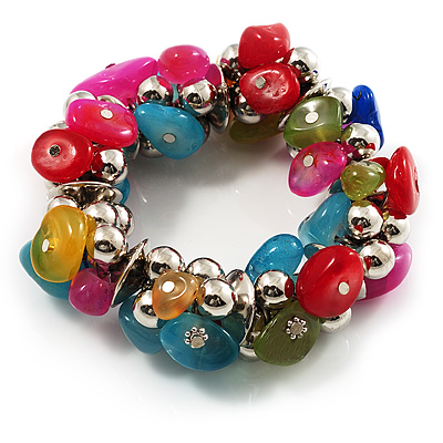 Multi-Coloured Nugget Flex Bracelet