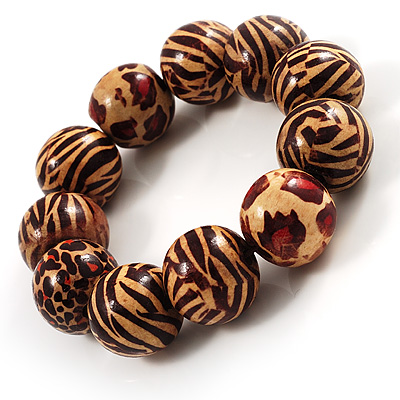 Animal Print Wood Flex Bracelet
