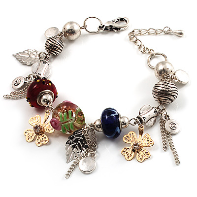Stunning Charm Bracelet (Silver Tone)