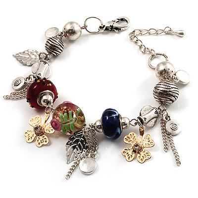 Stunning Charm Bracelet (Silver Tone)