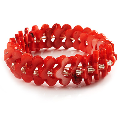 Coral Shell Stretch Bracelet - main view