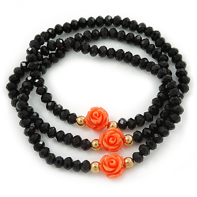 Avalaya Hematite Glass Bead, Freshwater Pearl and Shell Nugget Long Necklace - 108cm L