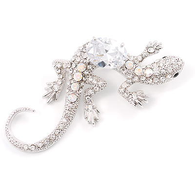 Iridescent Regal Jumbo Lizard Costume Brooch
