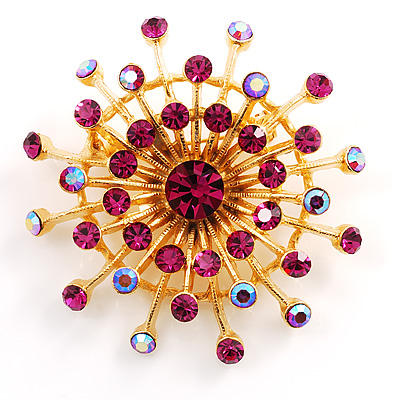 Purple Jumbo Star Costume Brooch