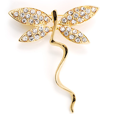 Gold Butterfly Fashion Brooch