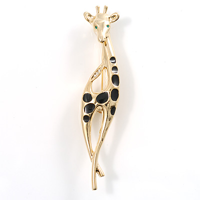 Gold-Plated Giraffe Brooch