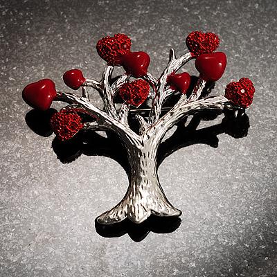 Love Tree Fashion Brooch - main view