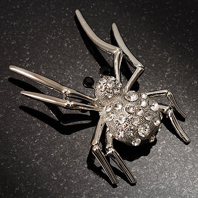 Giant Crystal Spider Fashion Brooch