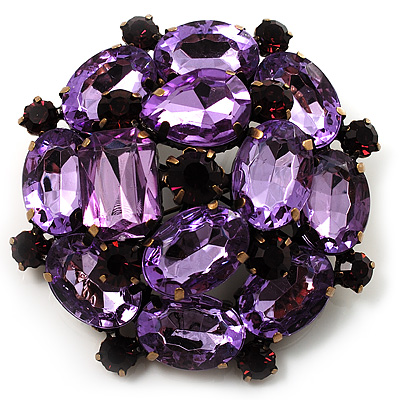 Large Dimensional Corsage Acrylic Brooch (Bronze&Purple)