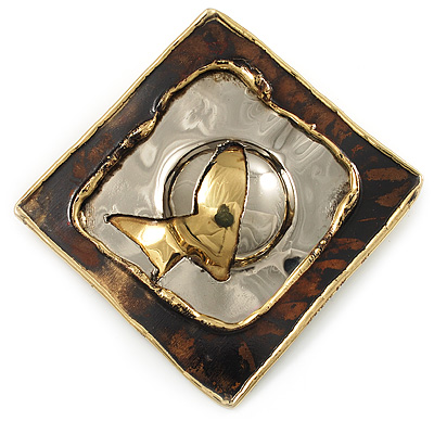 'Broken Square' Ethic Brooch