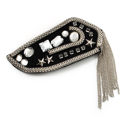 Crystal Tassel Epaulet Fabric Brooch (Catwalk - 2013)