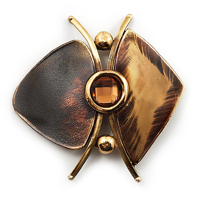 Abstract 'Butterfly' Ethnic Brooch - (handcrafted)
