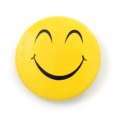 Dreamy Smiling Face Lapel Pin Button Badge - 3cm Diameter