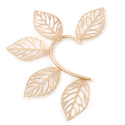 Ear Cuff example - Leaf Hook Cuff Earring In Gold Plating [E02448]
