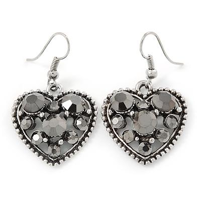 Vintage Cameo Imitation Pearl Drop Earrings (Burn Silver) t6IKI
