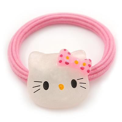 "Kids ""Little Kitty"" Pony Tail Hair Elastic/Bobble"