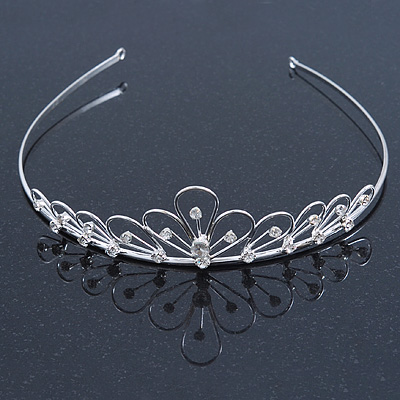Bridal/ Wedding/ Prom Rhodium Plated Austrian Crystal Tiara