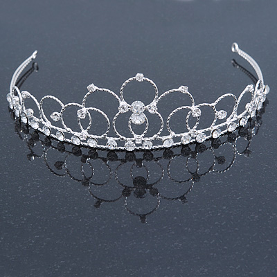 Princess Bridal/ Wedding/ Prom Rhodium Plated Austrian Crystal Tiara
