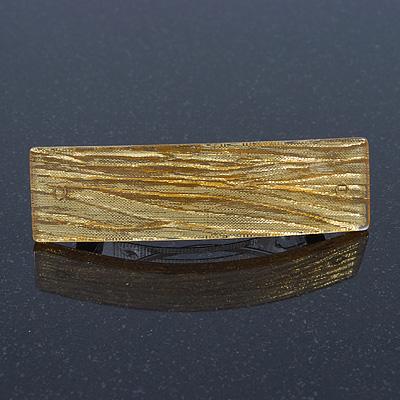 Gold Glittering Acrylic Barrette Hair Clip Grip - 85mm Across