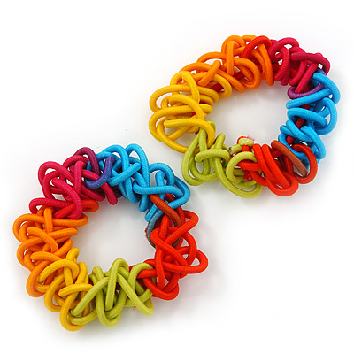 Multicoloured Hair Elastics Set of 2