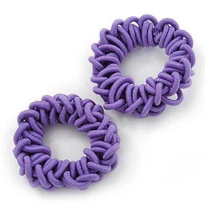 Purple Hair Elastics Set of 2