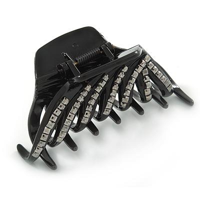 Black Acrylic Hair Claw - 85mm Width