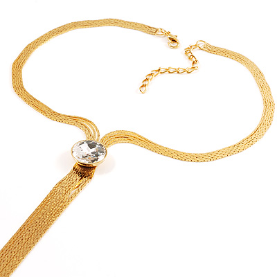 Gold Hollywood Style Necklace