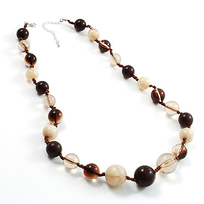 Long Resin Bead Necklace
