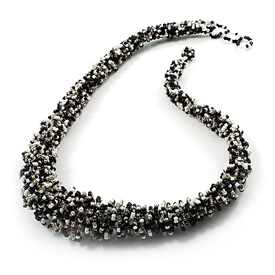 Avalaya Chunky Bronze Gold Coloured Glass Bead Necklace - 70cm L fMtztOhG