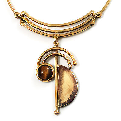 Ancient Wealth of Golden Tiger's Eye Necklace - main view