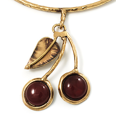 Ethnic Cherry Handmade Choker Necklace - main view