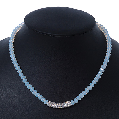 White Mountain Crystal and Swarovski Elements Choker Necklace - 36cm Length (5cm extension)