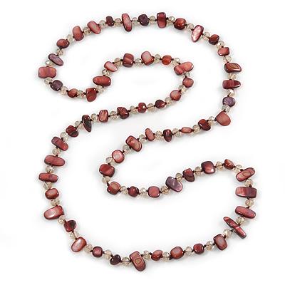 Avalaya Long Black/White Glass Pearl Necklace - 110cm Length 1oKV1mG