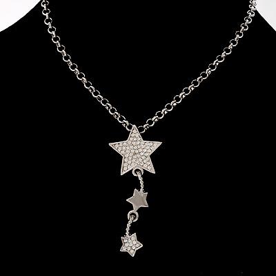 Silver Triple Star Pendant