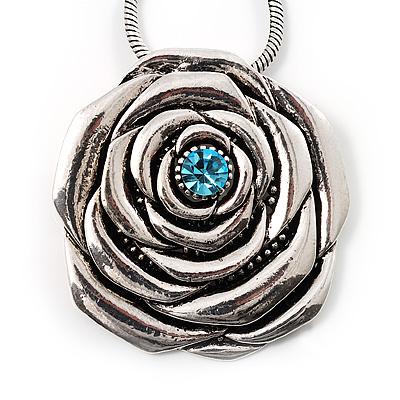 Vintage Rose Crystal Pendant