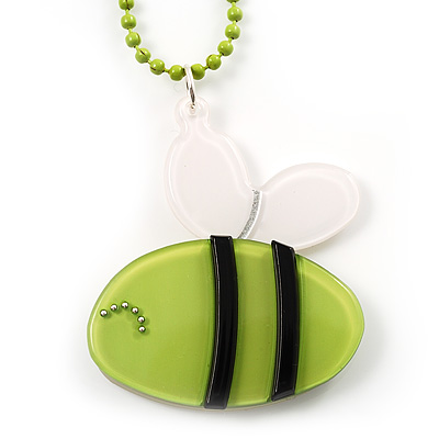 Light Green Plastic Bee Pendant