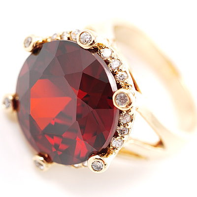 Show Off Ruby Red Crystal Costume Ring