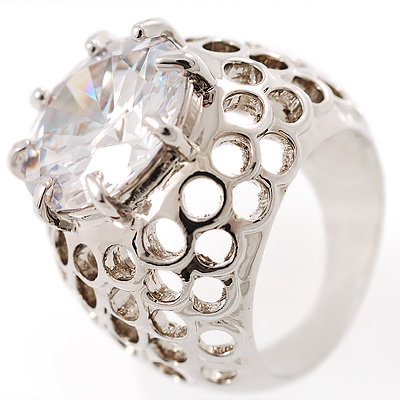 Hollywood Style Cocktail Ring - main view