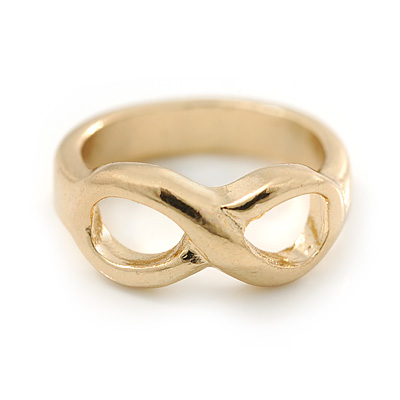 Gold Plated Infinity Knuckle Ring - main view