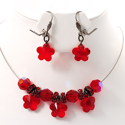 Stunning Hot Red Bead Set - main view