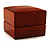Luxury Wooden Light Brown Mahogany Ring Box - view 4