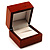 Luxury Wooden Light Brown Mahogany Ring Box - view 2
