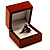 Luxury Wooden Light Brown Mahogany Ring Box - view 3
