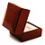 Luxury Wooden Light Brown Mahogany Ring Box - view 6