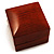Luxury Wooden Light Brown Mahogany Ring Box - view 5
