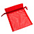 Organza Drawstring Pouch 15x20cm - Red