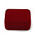Luxury Red Velour Wedding Two Ring Box - view 6