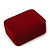 Luxury Red Velour Wedding Two Ring Box - view 3