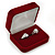 Luxury Red Velour Wedding Two Ring Box - view 2